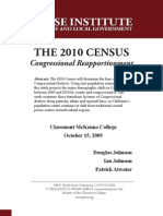 The 2010 Census Congressional Reapportionment