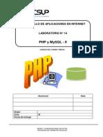 Lab 14 - PHP y MySQL - II