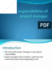 Roles & Responsibilities of Project Manager