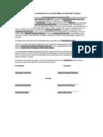 Modelo de Acta Constitutiva de La Comision Mixta de Seguridad e Higiene