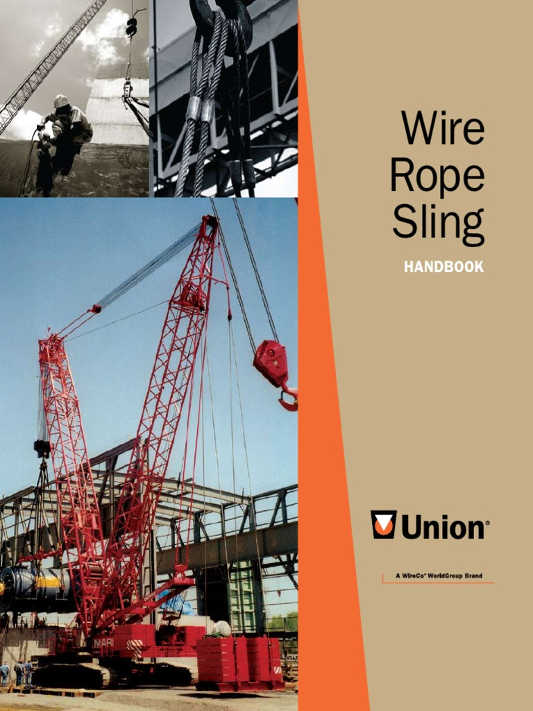 Wire Rope Sling Hand Book | Rope | Elevator