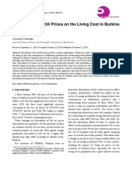 Impact of Rising Oil Prices on the Living Cost in Burkina Faso