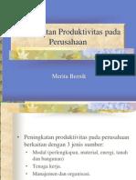 Peningkatan Produktivitas Pada Perusahaan