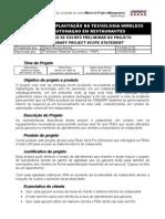 Declaração do Escopo Preliminar do Projeto (Scope Statement)