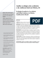 ARTIGO - Análise ecológica dos acidentes e da violência letal em Vitória, ES