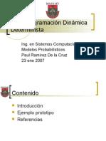 S1 – Programación Dinámica Determinística