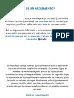 1. INTRODUCCIÓN A LOS ARGUMENTOS