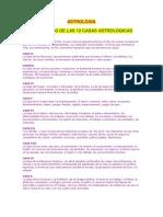 Las 12 Casas Astrologicas