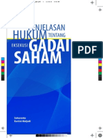 Penjelasan Hukum Tentang Eksekusi Gadai Saham - eBook