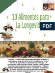 10 Alimentos para la longevidad.