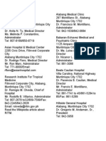 List of Hospitals in Manila 2