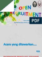 Sosialisasi Open Recruitment Acara BEM FPsi KM UNDIP 2014