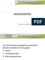instrumental en opertatoria dental