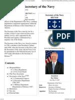 United States Secretary of the Navy - Wikipedia, The Free Encyclopedia