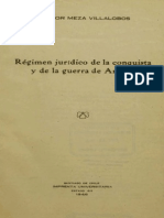 Régimen jurídico de la conquista y de la guerra de Arauco