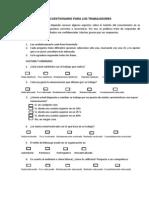 Cuestionario Para Los Trabajadores
