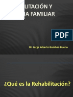 Rehabilitación, objetivos y concepto.