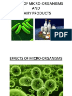 Effect of  microorganisum on dairy products