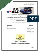 Summer Training Project on Maruti Suzuki