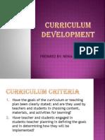 Curriculum Criteria