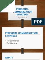 Personal Communication Strategy