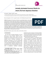 Utilization of Chemically Activated Coconut Shells for Removal of Chromium (VI) From Aqueous Solution