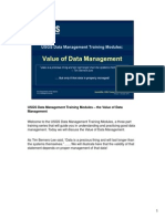 USGS Data Management Training - Module 1 - DM Value