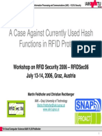 011 - A Case Against Hash Functions