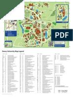 Emory University Map Legend