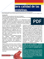 Verdadera Calidad de Las Proteínas