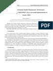"Establishment of Strategic Quality Management—Performance Measurement Model ""SQM-PMM""_ Key to successful implementation of Science TQM"