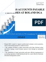 PAPERLESS ACCOUNTS PAYABLE PROCESSES AT ROLAND DGA