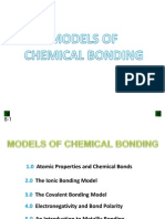 Lecture 3 - Models of Chemical Bonding