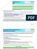Example Risk Assessment for a Bricklaying Company Updated 20-11-12
