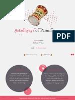 Ashtadhyayi of Panini