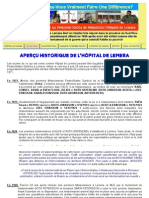 Histoire de l'Hopital de Lemera