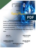 NPEN Certificate