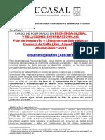 Curso de Postgrado en Economía Global y Relaciones Internacionales