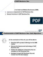 01 Fundamentals of Sap Business One Revised
