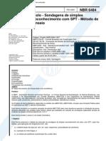 SPT-Metodo de Ensaio NBR 6484