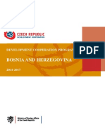 Programme Development Cooperation Cz-bosnia and Herzegovina-2011-2017 En