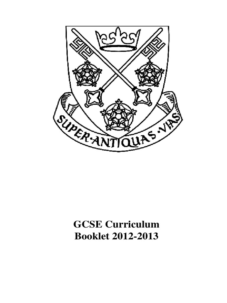 GCSE Curriculum Booklet 2012-2013