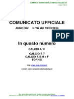 C.U.N.52 del 19-03-2014