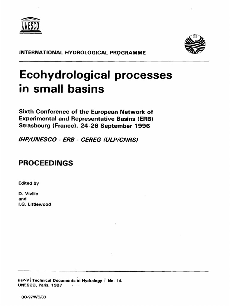 Ecohydrological Processes In Small Basins Strasbourg Wiring Diagram 1980up Electric Start Image Evapotranspiration Drainage Basin