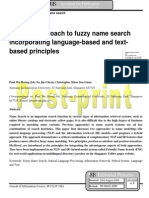 A hybrid approach to fuzzy name search 