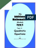 2 Quadratic Eqn