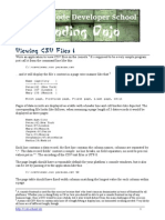Agility Kata Viewing CSV Files I