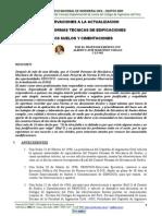 Observaciones a la Actualización de las Normas E.050