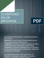SISTEMAS DE CLASIFICACIÓN. tema 2