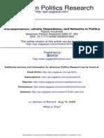 American Politics Research 2009 Huckfeldt 921 50